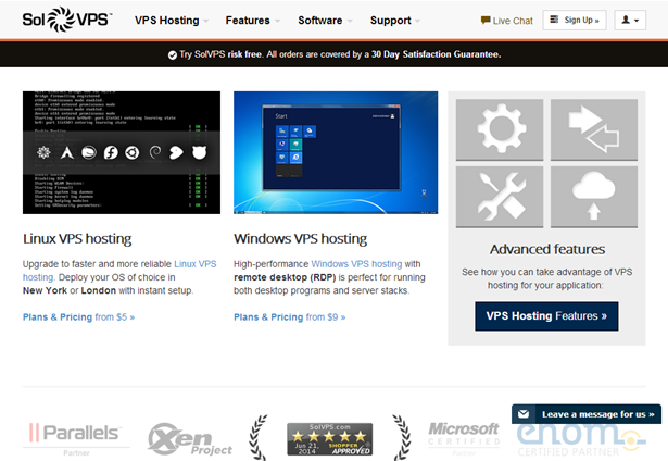 Linux VPS and Windows Virtual Server Hosting Solutions
